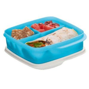 Tupperware Basic Line Azul com Divisórias 550ml