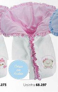 Saco De Dormir porta Bebê - Ursinha Rosa