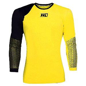 Camisa de Goleiro N1 Amarela e Preta