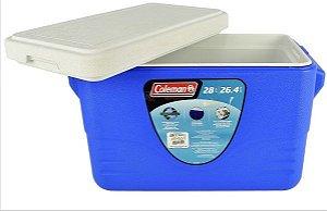 Caixa Térmica Coleman 26 Litros - Azul (28 Qt) Com Tampa Removível