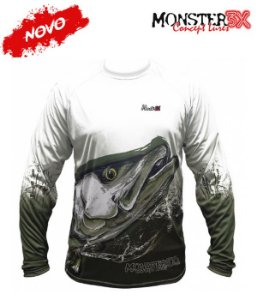 Camiseta para pesca Monster 3X NEW Fish Collection ROBALO - Masculina