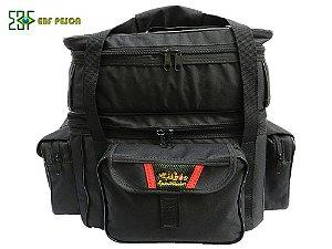 Bolsa Apetrecho EBF PESCA - GG Standard 2 andares - Preta