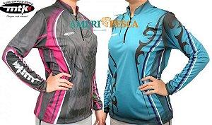Camiseta  Feminina Mtk Pesca Atack Z C/ Proteção Solar Dryfit