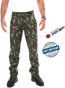 Calça Camuflada Ripstop Foxboy Militar Exercito Farda