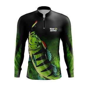 Camiseta para Pesca - Proteção Solar 50+ UV - Peixe - Tucunaré / Traíra / Tambaqui / Pirarara