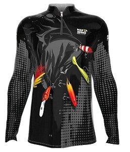 Camiseta para Pesca - Proteção Solar 50+ UV - Iscas Artificiais