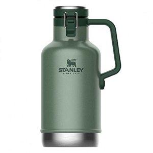 Growler Térmico 1,9 Litros com Tampa STANLEY Garrafa - Chopp / cerveja - Preta - Verde