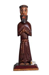 São Francisco de Assis em Oração de Madeira. 16cm