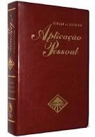 Bíblia Sagrada de Estudo Aplicação Pessoal Média. Luxo Vinho