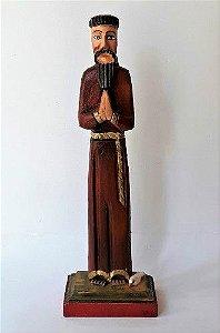 São Francisco de Assis em Oração de Madeira 24cm