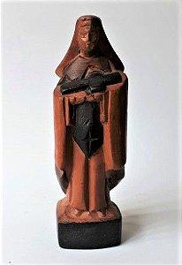 Santa Rita de Cassia Trabalhada em Madeira - 16cm
