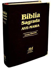 BÍBLIA SAGRADA LETRA GRANDE. COR PRETA