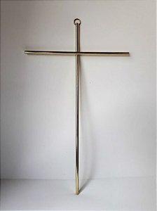 Cruz de Parede Dourada. Grande. 28cmX17cm