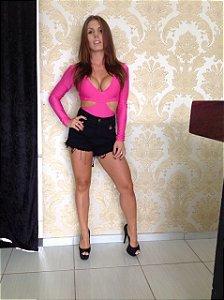Body Pink com Recortes