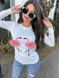 Tricot de Flamingo com Pompom