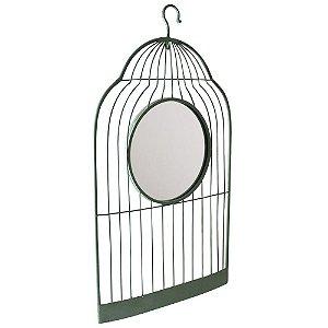 Quadro Gaiola com Espelho - 86 x 48 cm