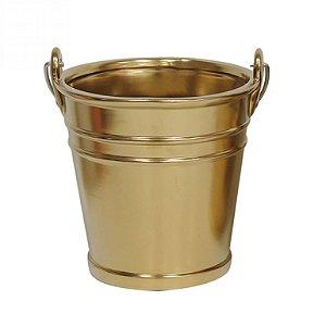 Cachepot de Cerâmica Dourado Grande - 16,5x15 cm