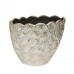 Cachepot de Cerâmica Dourado - 17,5x22 cm