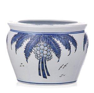 Vaso de Cerâmica com Coqueiros - 32x41 cm