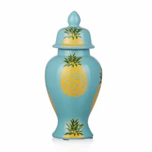 Vaso de Cerâmica Abacaxis - 31x15 cm