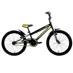 BIcicleta Infantil Tito Volt 2.0 Preta com amarelo