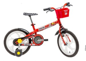 Bicicleta Infantil Feminina Minnie Aro 16