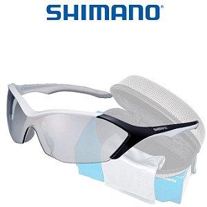 Óculos Shimano Serie R CE S71R  Branco metalico C/ Preto