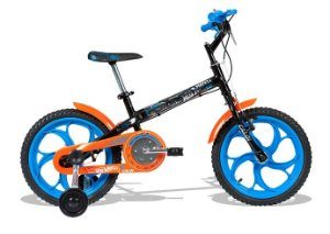 Bicicleta Infantil Masculina Hot Wheels Aro 16
