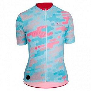 Camisa Ciclismo Feminina Mauro Ribeiro Camuflada Az