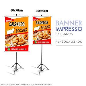 Banner Impresso de Salgados Personalizado
