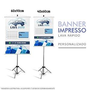 Banner Impresso Lava Rápido Personalizado