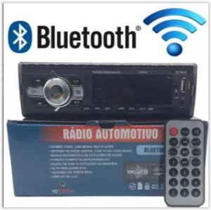 TOCA RADIO BLUETOOTH FM CARRO MP3 PEN AUTOMOTIVO USB SD AUX