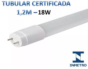 LÂMPADA LED TUBULAR 1,2M T8 G13 18W 6500W