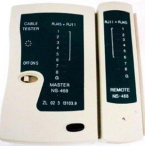 TESTADOR CABO DE REDE LAN PROFISSIONAL RJ45 RJ11 TELEFONE