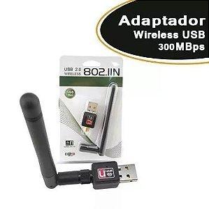 ADAPTADOR WI FI  300 MB/S COM ANTENA 7 DBI