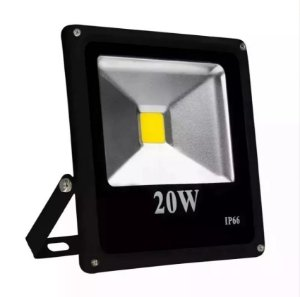 REFLETOR DE LED IP66 20W SLIM BIVOLT BRANCO FRIO