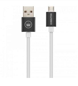 CABO V8 MICRO USB PREMIUM 2M 2A KIMASTER CB830P - PRETO