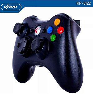 CONTROLE SEM FIO XBOX 360 WIRELESS 7M DISTÂNCIA KNUP KP-5122