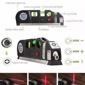 NÍVEL TRENA CRUZ PRUMO LASER LEVEL PRO 3 HORIZONTAL VERTICAL - LV03