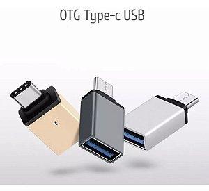 ADAPTADOR OTG TIPO C MACHO PARA USB FEMEA CELULAR - LE5544
