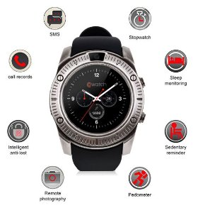 RELÓGIO INTELIGENTE SMARTWATCH KY003 CHIP CARTAO BLUETOOTH