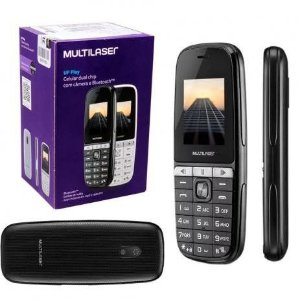 CELULAR UP PLAY DUAL CHIP COM CÂMERA  P9076 MULTILASER MP3 FM LANTERNA TELA 1,8
