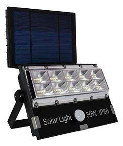 REFLETOR SOLAR 30W COM PLACA - 3 MODOS
