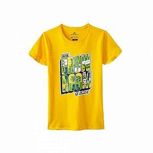Camiseta Growroom - Edição 17 anos - Feminina Amarela