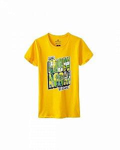 Camiseta Growroom - Edição especial 17 anos - Feminina Amarela