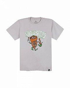 Camiseta Growroom - Vasinho - Masculina Cinza Claro