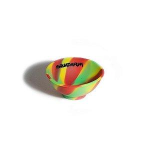 Cuia Silicone - Squadafum - Verde, Amarelo e Vermelho