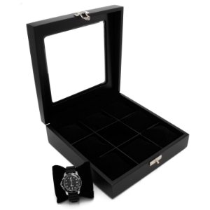 Caixa Luxo 9 Relógios