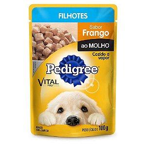 Sachê Pedigree para Cães Filhotes sabor Frango ao Molho - 100g