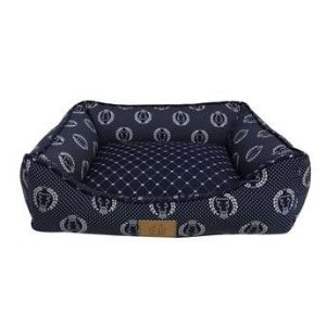 Cama Coroa G Marinho para Cães - Fábrica Pet